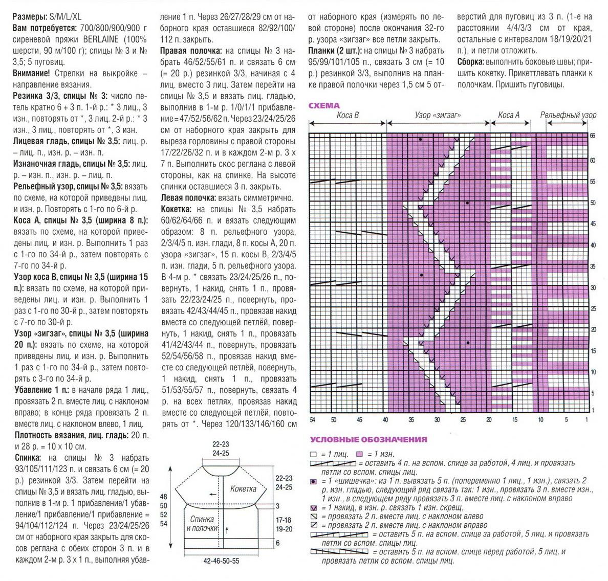 Вязание кокеток спицами модели и схемы